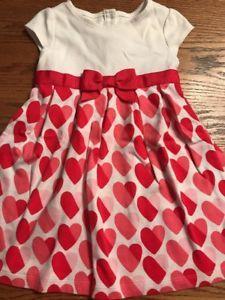 261359211fd Gymboree Toddler Girls Size 4T Heart Print Valentine s Day Dress ...