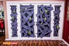 Zombie apocalypse windows and doors for Halloween decorations inside and outside your house - DIY - DAVE LOWE DESIGN the Blog: Countdown to Halloween Day 28