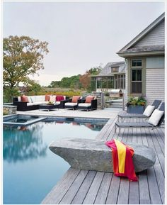 Create a relaxing poolside retreat with these pool deck design ideas from Backyard Ocean. Take your pick from concrete, cobblestone or wooden pool decks and elevate your pool to stylish new heights!
