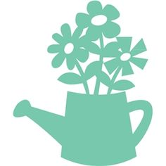 Silhouette Design Store - View Design flowers in watering can Silhouette Files, Silhouette Design, Windows Color, Flora Und Fauna, Diy And Crafts, Paper Crafts, Silhouette Online Store, Silhouette Portrait, Scroll Saw Patterns