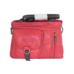 Sienna cherry leather handbag 2 handle good quality