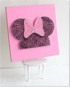 Minnie String Wall Art by mintiwall on Etsy