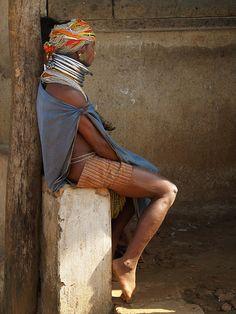 INDLU ╱  THE OTHER WORLD ╲ Bondas lady   India, Orissa   http://inditrip.net  