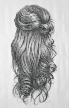 Dibujo de pelo ondulado - how to draw curls pic of wavy and curly head back side. Drawing Techniques, Drawing Tips, Drawing Sketches, Sketching, Drawing Ideas, Sketch Ideas, Drawing Drawing, Drawing Faces, Amazing Drawings