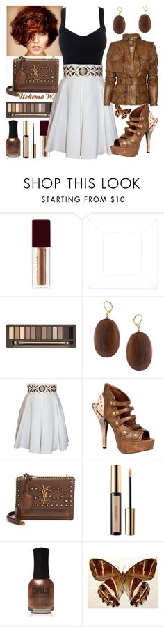 """""""Sunday Dinner🍝🍷👫"""" by sexyshonda ❤ liked on Polyvore featuring Urban Decay, Kenneth Jay Lane, Balizza, Belstaff, HADES and Yves Saint Laurent"""