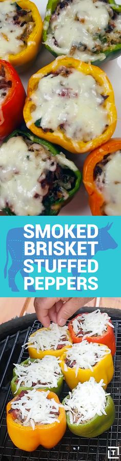 Smoky Ribs BBQ is giving us a lesson on how to make the most of your peppers by sharing with us the only stuffed pepper recipe you'll ever need. Just stuff 'em to the brim with smoked brisket, rice, mushrooms, garlic, onions, and jalapeños, then top 'em off with some provolone for a cheesy finish. Now that's a stuffed pepper.