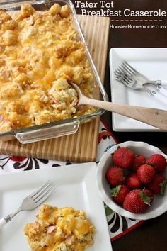 Breakfast, Lunch or Dinner - this Tater Tot Breakfast Casserole will fill your belly! Great make ahead casserole and perfect for the holidays! Pin this to your Recipe Board!