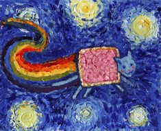 nyan cat van gogh Van Gogh, les parodies et les geeks  geek featured design art