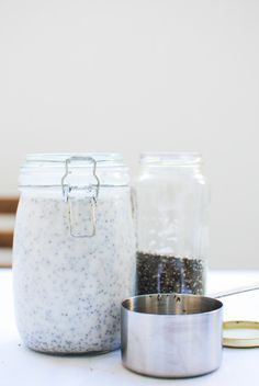 Chia Pudding for the Week - Please Consider Breakfast Snacks, Breakfast Bars, Healthy Fats, Healthy Snacks, Healthy Recipes, Granola, How To Make Dip, Avocado Cream, Different Fruits