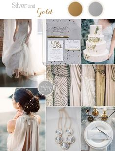 Minimalist Metallic Wedding Inspiration with Rustic Silver and Gold Leaf Details… Metallic Wedding Theme, Gold Wedding Colors, Wedding Color Schemes, Wedding Themes, Wedding Ideas, Bling Wedding, Wedding Flowers, Wedding Goals, Wedding Advice