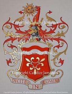 Victorian Style Arms.  An original design by Candice Jamieson.  (heraldic art, heraldic artist, heraldry, Candice Jamieson, coats of arms, American heraldry, The Jamieson Family)