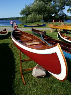 B.N.Morris canoe at the Wooden Canoe Heritage Association meeting in Paul Smith's Adirondacks NY