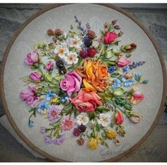 Wonderful Ribbon Embroidery Flowers by Hand Ideas. Enchanting Ribbon Embroidery Flowers by Hand Ideas. Ribbon Embroidery Tutorial, Rose Embroidery, Silk Ribbon Embroidery, Embroidery Patterns, Embroidery Stitches, Embroidery Supplies, Embroidery Digitizing, Embroidery Store, Embroidery Tattoo