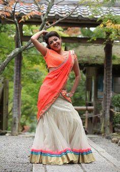 Kajal Agarwal Latest Hot Navel In Jilla Movie Stills