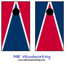 University of Richmond Cornhole Set by MIK Woodworking