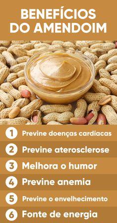 O amendoim é uma fruta oleaginosa da mesma família das castanhas, das nozes e das avelãs, sendo rico em gorduras boas como o ômega-3 que ajudam a diminuir a inflamação no corpo e proteger o coração.
