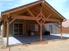 Wood Patio Cover Ideas Plan