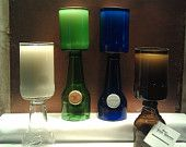 Large Beer Bottle Candle with label by UReflections on Etsy