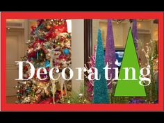 Christmas decorations - How to decorate with color for Christmas - YouTube