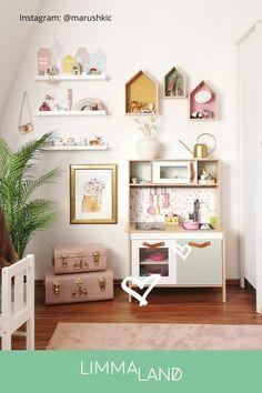Ikea Toddler Room, Ikea Girls Room, Montessori Toddler Rooms, Ikea Kids Bedroom, Cool Kids Bedrooms, Ikea Montessori, Playroom Decor, Baby Room Decor, Ikea Kids Playroom
