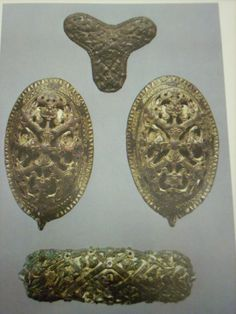Trefoil, Tortoise Brooches, and Equal-Arm Brooch