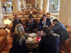 Muy estimulante sesión de trabajo ayer @Ignacio_Alcalde @Fundación Metrópoli con ministro TIC Colombia @DiegoMolanoVega y @Findeter sobre #DiamanteCaribe