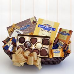 Ghirardelli Classic Gift Basket-new item, perfect for a chocolate lover!