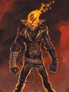 (para acabado de dibujos/estética en general) Ghost Rider by Rafa Garres *