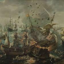 Afbeeldingsresultaat voor zeeslagen schilderijen