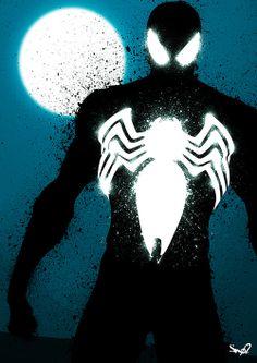 CyberWolf, Black Spider-Man - Fan Art Created by / . Amazing Spiderman, Spiderman Noir, Art Spiderman, Black Spiderman, Spiderman Poses, Comic Book Characters, Comic Book Heroes, Comic Books Art, Comic Art