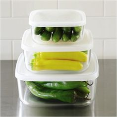 Bormioli Rocco Glass Food Containers; perfect for storing your Summer Pasta Salads and side dishes.