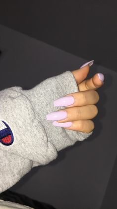 Acrylic nails long purple spring