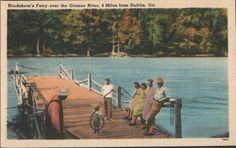GA Dublin Georgia Blackshear's Ferry Over Oconee River.  A different world.