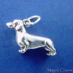 Sterling Silver 7 4.5mm Charm Bracelet With Attached 3D Standing BullDog Pet Dog Charm