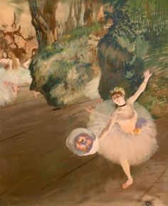 degas: dancer taking a bow (the star) (1877)