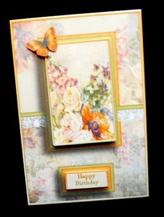 Cardtopper with matching envelope orange 731 on Craftsuprint designed by Gertraud Lueckel - made by Diane Hitchcox - I printed out onto 220 gram card ,mounted on a A5 card using DST ,decoupaged with sticky pads ,then added insert. - Now available for download!