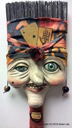 Fantasy | Whimsical | Strange | Mythical | Creative | Creatures | Dolls | Sculptures | Fortune Teller - Karen Lilly