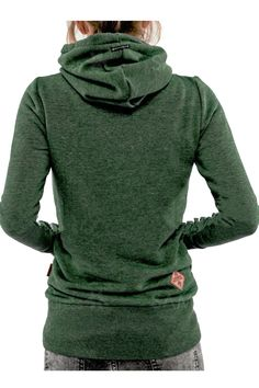 Green Hooded Long Sleeve Turtleneck Sweater. Free 3-7 days expedited shipping to U.S. Free first class word wide shipping. Customer service: help@moooh.net