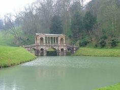 The Paladian bridge at Prior Park, near Bath.