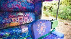 Delhi's first designer auto-rickshaw designed by Nasheet Shadani is inspired by Vincent van Gogh