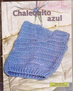 Diy Crochet Cardigan, Crochet Vest Pattern, Crochet Shawl, Crochet Yarn, Free Crochet, Diy Crafts Knitting, Crochet Projects, Baby Boy Vest, Knit Baby Dress