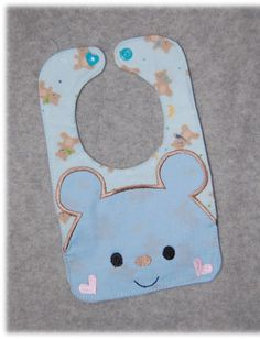 6x10 Bear Bib Embroidery Machine Design for the by SewingForSarah