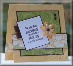 Housework Taglines _pb by peanutbee - Cards and Paper Crafts at Splitcoaststampers
