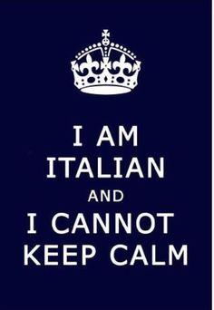 I'm Italian and...