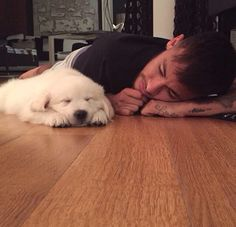 Ney and his new puppy!!