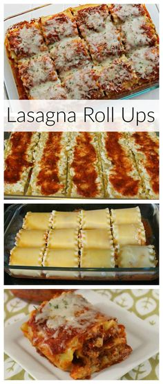 Cheesy Lasagna Roll Ups. Easy, Cheesy Lasagna Roll Ups are a snap to make. This yummy pasta recipe will please your whole family. Weeknight meals just got easier with this easy and cheesy Lasagna Roll Ups recipe. Your entire family will ask for seconds! Lasagne Roll Ups, Lasagna Recipe Roll Ups, Ground Beef Lasagna Recipe, Yummy Pasta Recipes, Yummy Food, Recipes Dinner, Easy Recipes, Couscous Recipes, Tilapia Recipes