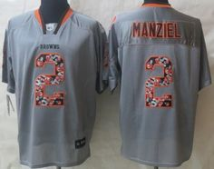 ba84c00329f ... Nike Cleveland Browns 2 Johnny Manziel Lights Out Gray Ornamented Elite  Jersey ...