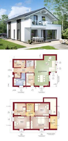 Haus modern mit Satteldach - Einfamilienhaus Edition 2 V3 Bien Zenker Fertighaus - HausbauDirekt.de