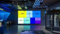 Visualizing their worldwide business activity in real-time, the data wall is the centerpiece of the new headquarters of Stockholm-based payment company Klarna.