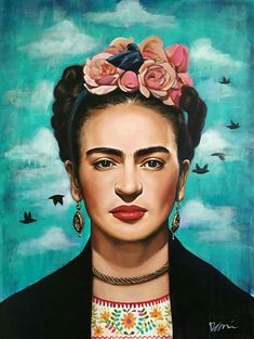 a boem woman Naturally beauty. Frida Kahlo Work, Frida Kahlo Exhibit, Frida Kahlo Portraits, Frida Art, Diego Rivera, Fridah Kahlo, Frida Paintings, Most Famous Paintings, Art Original